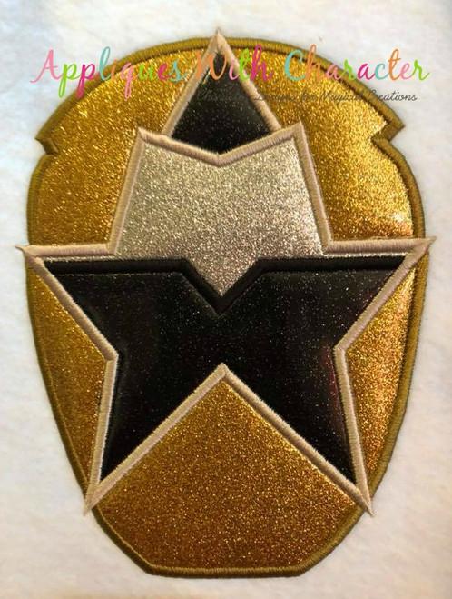 Ninja Gold Helmet Applique Design