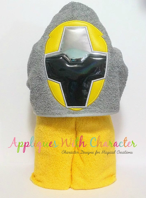 Ninja Yellow Helmet Applique Design