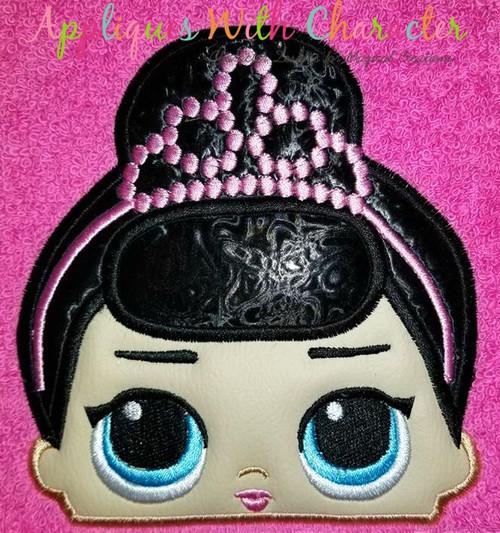 Fancy Doll Peeker Applique Design
