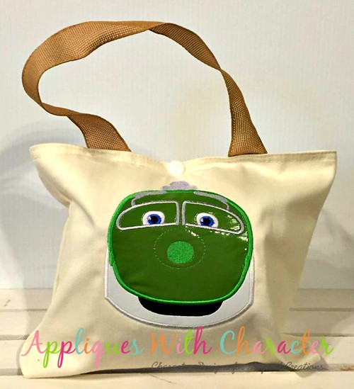 Chug Green Train Applique Design