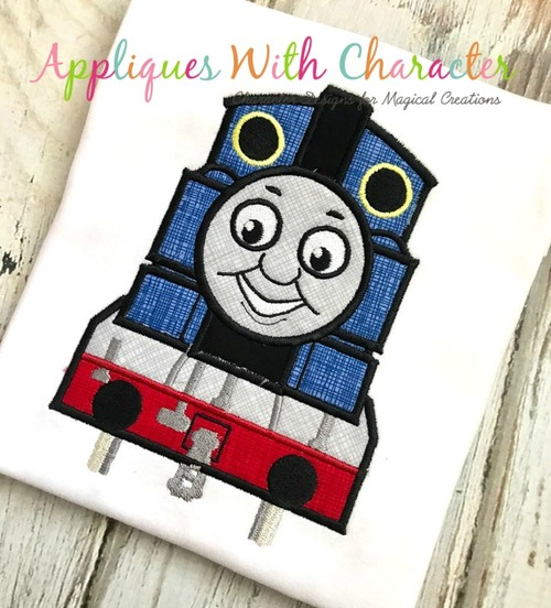 Tommy Train Applique Design