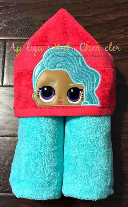 Splash Doll Peeker Applique Design