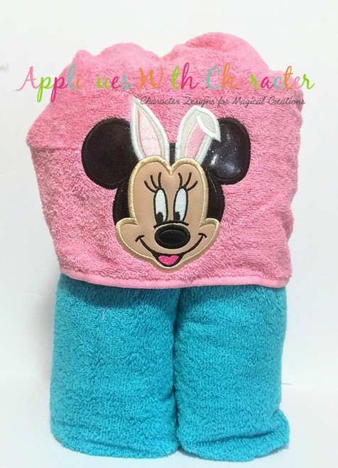 Miss Mouse with Bunny Ears Applique Design