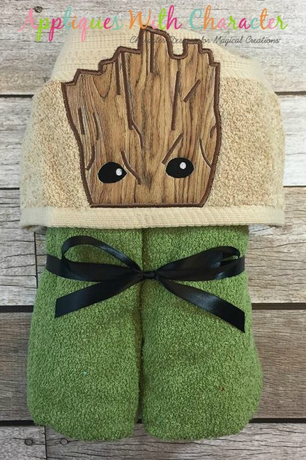 Baby Tree Root Peeker Applique Design