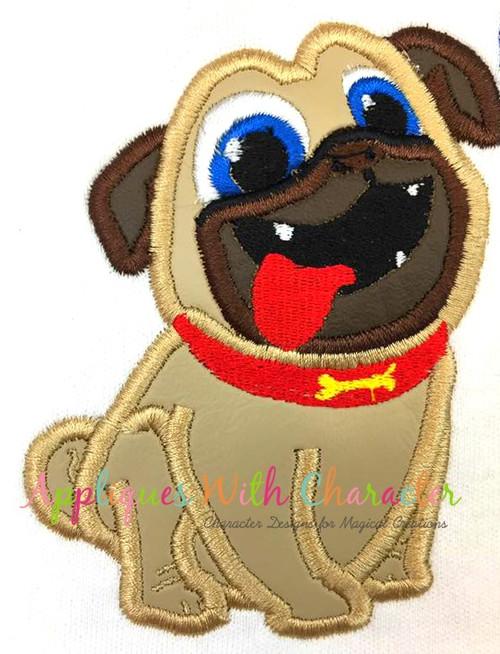 Puppy Friends Rolly Applique Design
