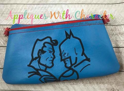 Bat Hero Super Hero Silhouette Embroidery Design
