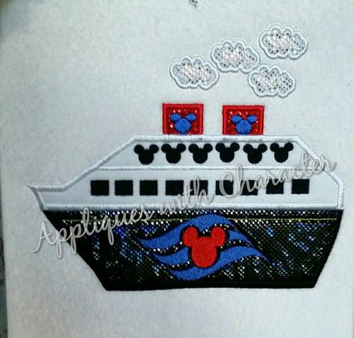 Cruise Ship Applique Design