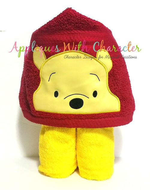 Honey Bear Peeker Applique Design