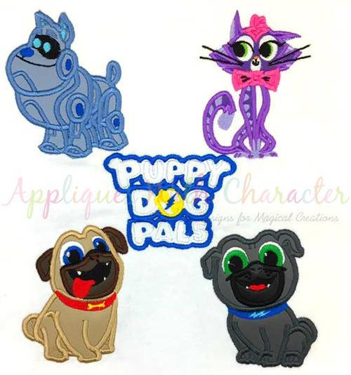 Puppy Friends Applique Design Set