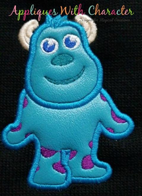Blue Monster Applique Design