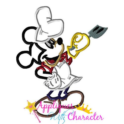 Mr Mouse Grill Summer Applique Design