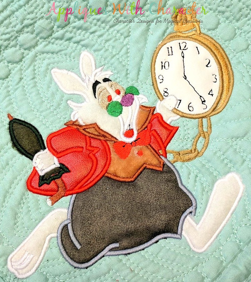Alice in Wonderland Rabbit  Applique Design