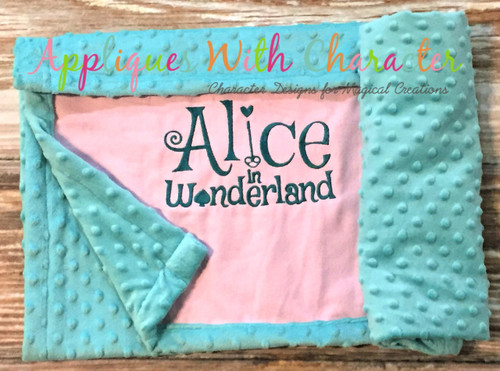 Alyce Traditional Saying Applique Design