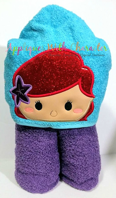 Mermaid Peeker Applique Design