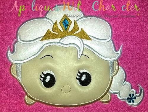 Frozen Elsa Tsum Tsum Applique Design
