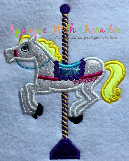 4076e706a14de Mary Poppers Carousel Horse Applique Design