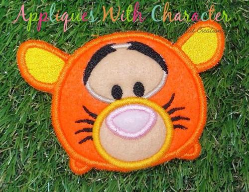Honey Bear Tiger Tsum Applique Design