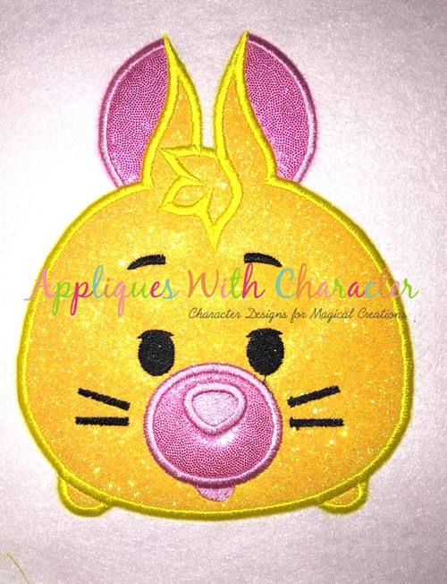 Honey Bear Rabbit Tsum Applique Design