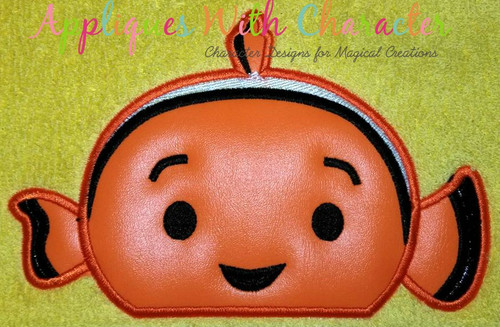 Finding Dorie Nemo Peeker Applique Design