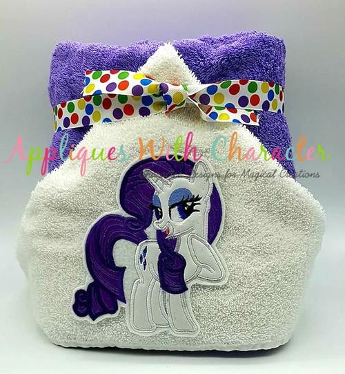 MLP Rarity Unicorn Pony Applique Design