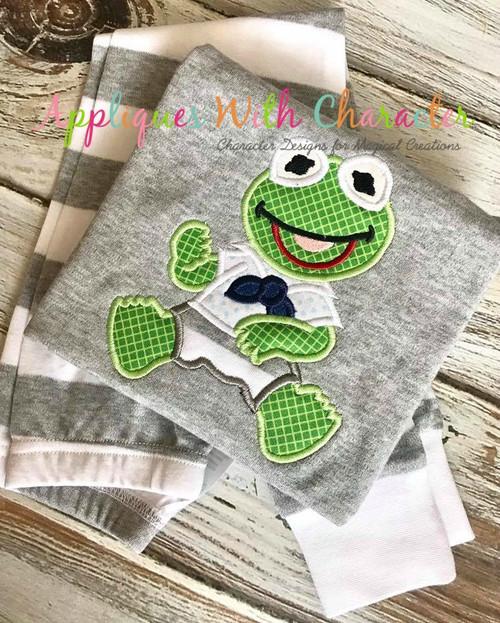 Muppet Baby Kermit Applique Design