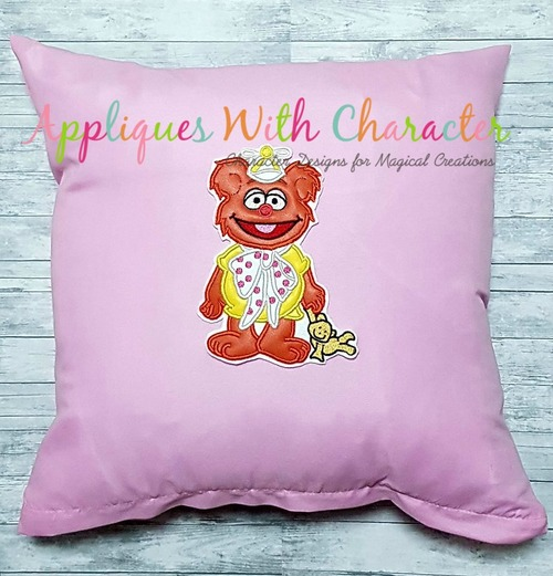 Muppet Baby Fozzie Applique Design