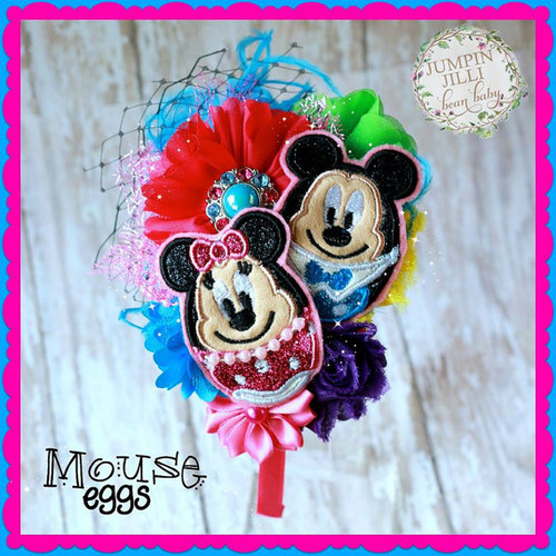 Miss Mouse Easter Egg Applique Design
