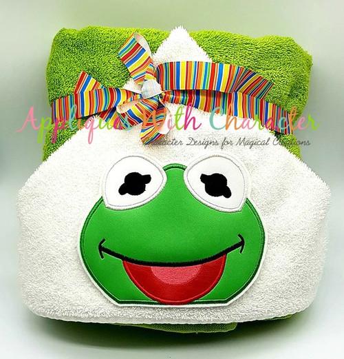 Muppet Baby Kermit Peeker Applique Design