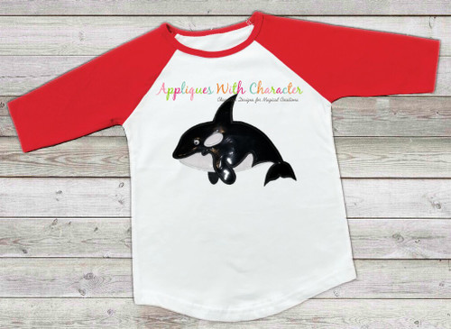 Ocean Whale Applique Design