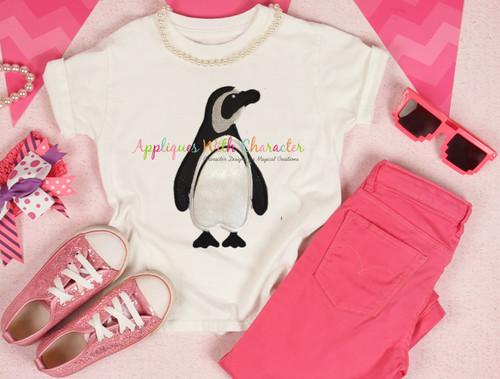Ocean Penguin Applique Design