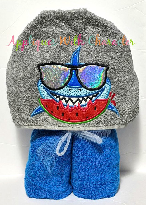 Boy Shark Applique Design