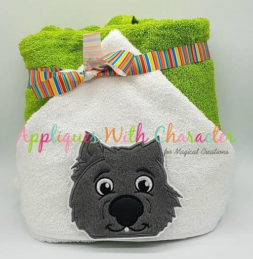Wombat Peeker Applique Design
