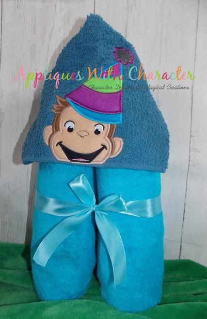 Curious Monkey Party Peeker Applique Design