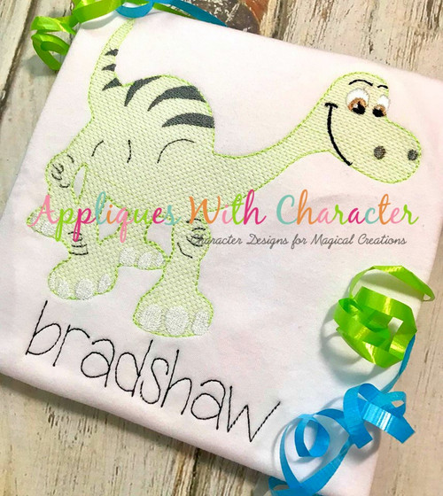 Good Dinosaur Sketch Embroidery Design