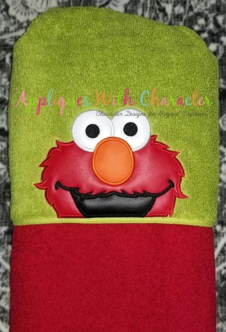 Elmo Peeker Applique Design