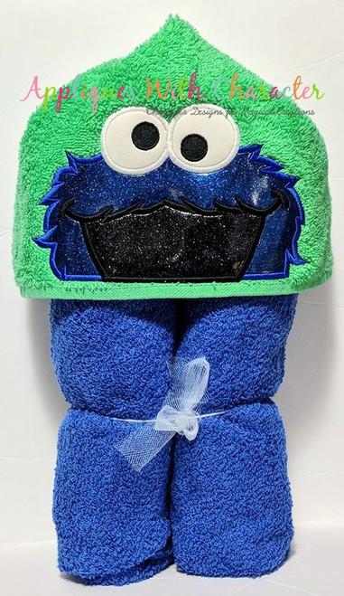 Cookie Monster Peeker Applique Design