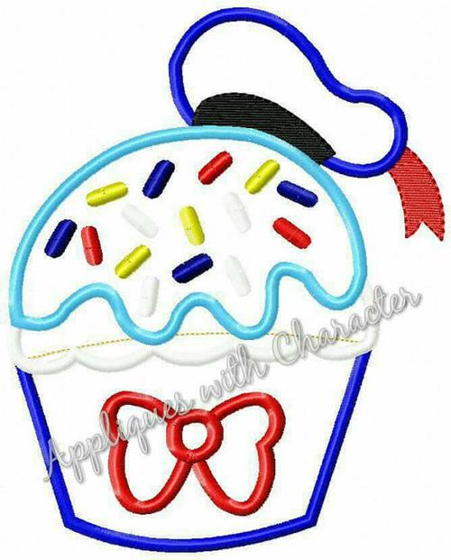 Don Duck Cupcake Applique Design