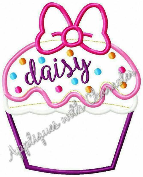 Daizy Cupcake Applique Design