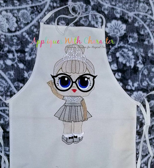 IT Baby Audrey Hepburn Sketch Embroidery Design