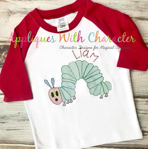 Caterpillar Bean Stitch Design