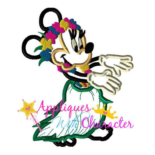 Hula Hawaiian Miss Mouse Applique Design