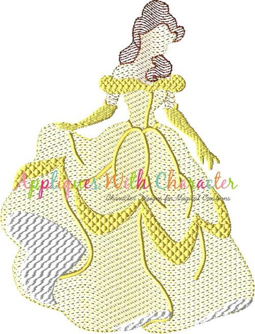 Beauty Bella Full Body Bean Stitch Design
