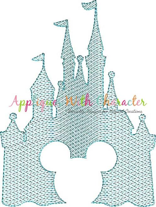 Mr. Mouse in Castle Bean Stitch Design