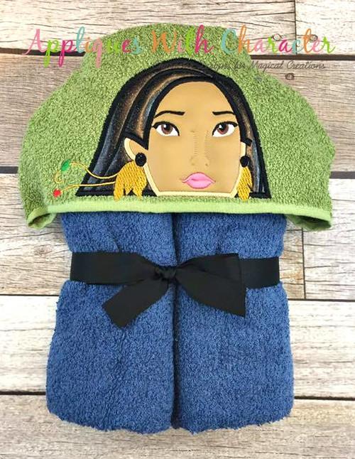 Pocahontas Peeker Applique Design