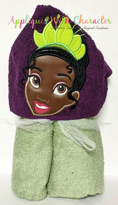 Tiana Princess Peeker Applique Design