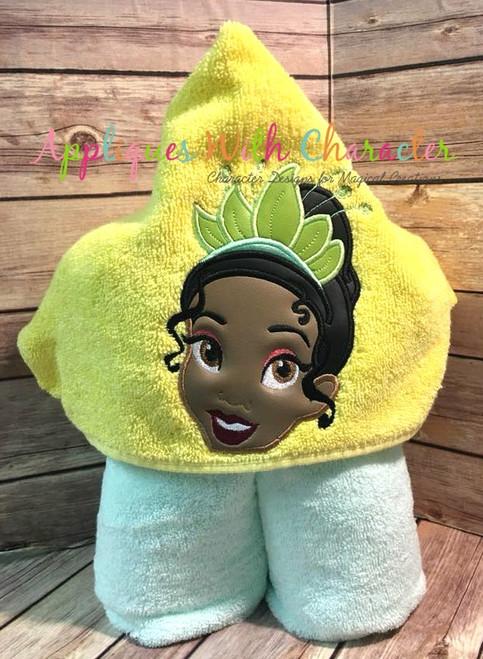 Tiana Princess Peeker Applique Design