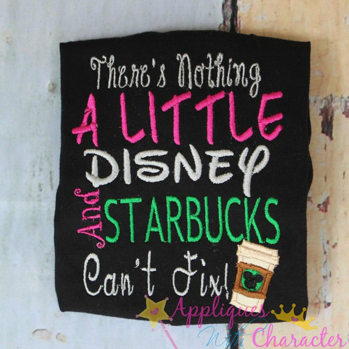There's Nothing a Little Disney and Starbucks won't Fix Applique Design