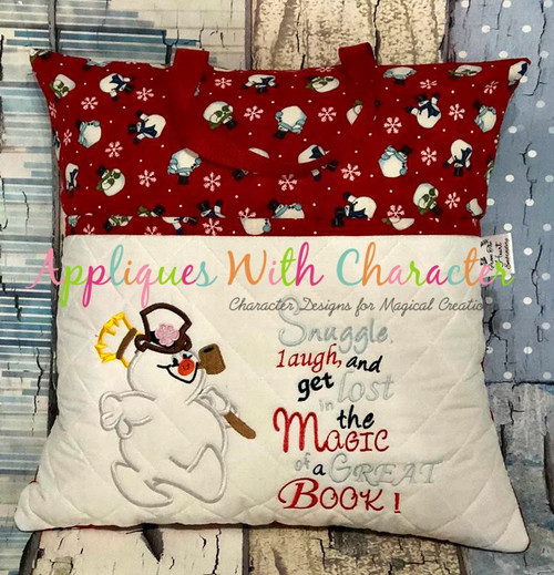 Frostee Snowman Full Body Applique and Book Saying Set