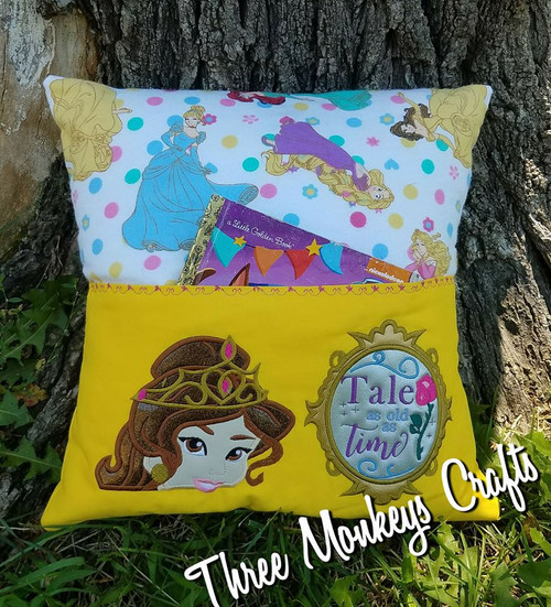 Beauty Bella Peeker and Tale as Old as Time Reading Pillow Design Set