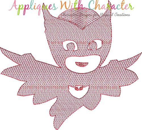Hero Masked Owl Bean Stitch Design